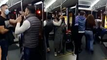 Hombre golpea a un policía que le llamó la atención por ir sin mascarilla en un autobús