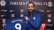 ¡'Pipita' a la Premier! Así presentó el Chelsea a Gonzalo Higuaín
