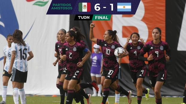 El Tri Femenil gusta y golea a la Selección de Argentina