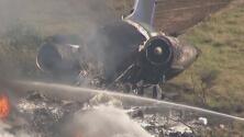 Sobreviven los 21 ocupantes del avión que se accidentó cerca del Aeropuerto Ejecutivo de Houston