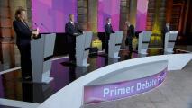 Sin despedirse, así abandonó López Obrador el escenario del primer debate presidencial