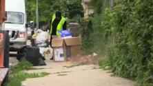 Trabajadores de recolección de basura encontraron un cadáver envuelto en plástico