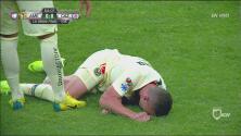 Escalofriante lesión de Mateus... Uribe se fue entre lágrimas