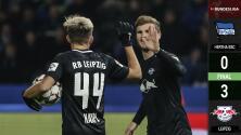 Hertha Berlin 0 – 3 RB Leipzig – Goles y Resumen completo