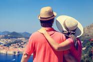 happy couple on summer vacation in Dubrovnik, Croatia