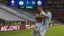 Resumen   Argentina vence 1-0 a Uruguay con un cabezazo de Guido