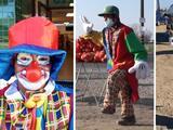 Coronavirus: hispano se viste de payaso, vende flores y hace reír para sobrevivir en el Valle Central