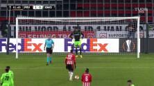 ¡GOOOL! Denzel Dumfries anota para PSV Eindhoven.