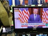 Sin eventos y con apenas una aparición en un video sin mencionar a Biden: las últimas 24 horas de Trump en la Casa Blanca