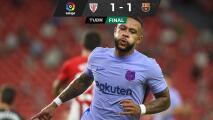Depay rescata empate para el Barcelona en visita al Athletic