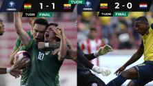 Bolivia y Ecuador reparten dramatismo en Eliminatorias Conmebol