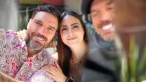 Julián Gil se reencuentra con su novia después 58 días y la recibe con comida en el diente 😂