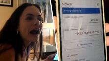 Joven descubre deuda de 50 mil millones en su cuenta de banco y video en TikTok se hace viral