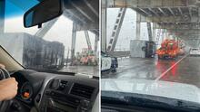 Así volcaron dos camiones en el puente Richmond-San Rafael debido a los fuertes vientos