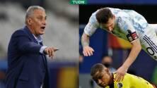 Tite asegura que Brasil borrará a Messi en la Final