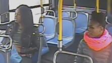 En video: Dos sospechosas derraman líquido sobre una pasajera de autobús para robarle el bolso