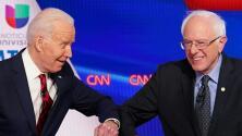 El impacto del coronavirus se hizo sentir en el debate demócrata entre Bernie Sanders y Joe Biden