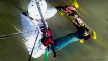 ¿Te atreverías a volar montado sobre una patineta?