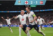 ¡Tremendo juego! Inglaterra derrota 2-1 a Dinamarca y llega a la Final
