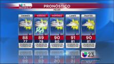 Fin de semana lluvioso para el sur de Florida