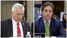 """Presidente de Uruguay cita """"Patria y Vida"""" a Díaz-Canel durante debate en cumbre de la CELAC"""
