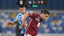Con Chucky en la cancha, Napoli rescató empate ante Torino