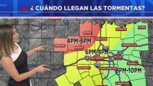 Ráfagas de viento, granizo y posibilidad de tornados se esperan en Dallas para la noche de este miércoles