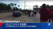 Accidente del un Ford Mustang Shelby GT350