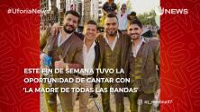 Increible: Jorge Medina sorprende al cantar por primera vez con La Banda El Recodo
