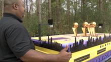 Creó un ataúd en homenaje a Kobe Bryant y condujo 2,260 millas para estar en la ceremonia