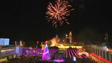 Así se encendió el árbol Navidad en la ciudad que vio nacer a Jesús
