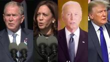 Esto dijeron Biden, Trump, Bush y Harris durante la conmemoración del 9/11