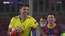 ¡Grandes atajadas! Buffon está en plan grande ante Lionel Messi