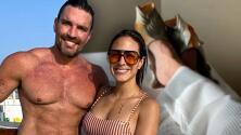 Julián Gil no deja sus 'chancletas' de pescado y se las lleva a su viaje romántico con Valeria Marín