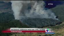Un incendio consumió 2 mil acres en Napa