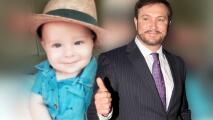 El nieto de Arturo Peniche, a sus casi 6 meses, va para galán como su abuelo