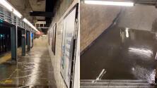 Estaciones de subway se inundan debido a las devastadoras lluvias de Ida