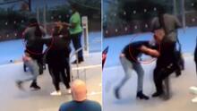 Revelan momento cuando sospechoso apuñala a un guardia en tienda Apple