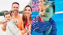 """A Megan ni su papá la puede sacar del agua: con un fuerte """"no"""" se lo hizo saber y Michelle Galván lo atestiguó"""