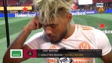 ¡Felicidad Total! Josef Martínez está muy contento con la victoria y por empatar el récord de goles
