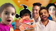 Los Derbez se burlan de la muñeca Mela y la ponen a hacer algo no apto para niños (uyyyy)