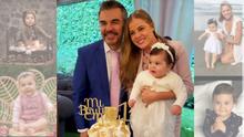 Adrián Uribe y Thuany Martins festejaron en grande el primer año de su hija Emily