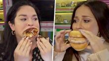 Jackie Guerrido retó a la mujer con la boca más grande del mundo a comer una torre de donas de un bocado