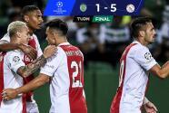 ¡Póker de Haller! Paliza del Ajax al Sporting en Lisboa