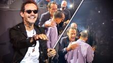 Marc Anthony sorprende a un joven ciego al bajarse del escenario en pleno concierto para cantarle al oído
