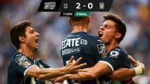 Con bronca, polémica arbitral y un arquerazo, gana Rayados el Clásico Regio