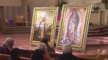 La emotiva bienvenida a las imágenes de la Virgen de Guadalupe y Juan Diego
