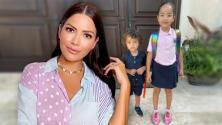 """Ana Patricia confiesa que no """"hubo tiempo de llorar"""" en el primer día de Gael en la escuela"""