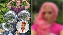 """""""Cumple drag"""": Christian Chávez se pone peluca, pestañas y tacones para celebrar 38 años de vida"""