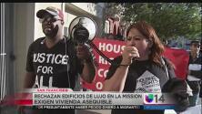 Protestan contra construcción de apartamentos de lujo